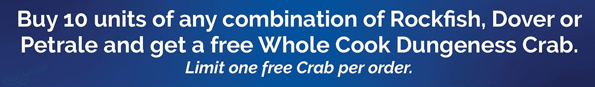Buy 10 Fillets, get free crab
