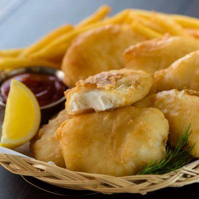 Crispy Battered Cod - Cooked